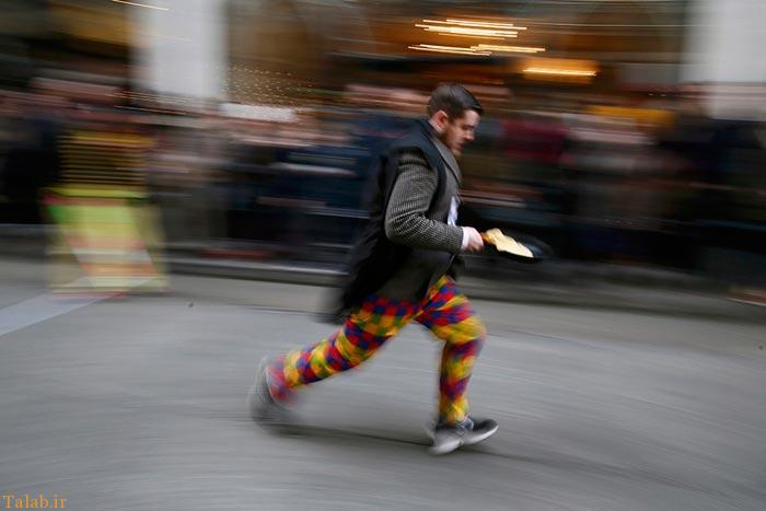 عکس های مسابقه جالب دویدن و درست کردن پنکیک
