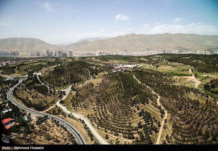 عکس های هوایی از بخش هایی از تهران بزرگ
