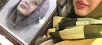 نیوشا ضیغمی در کنار نقاشی خودش + عکس