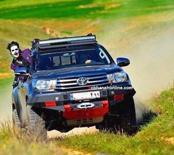 تیپ جالب بچه پولدار تهرانی سوار خودروی آفرود !+ عکس