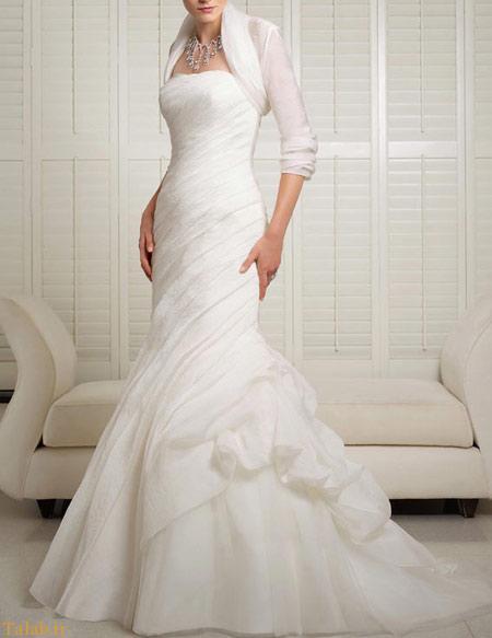 مدل لباس عروس آستین دار شیک و جذاب