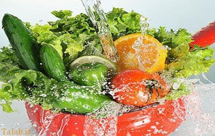 آموزش شستشوی سبزیجات و میوه ها با محلول های خانگی