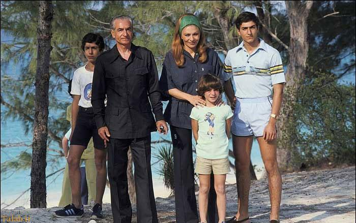 آب تنی محمدرضا شاه پس از خروج از ایران + تصاویر