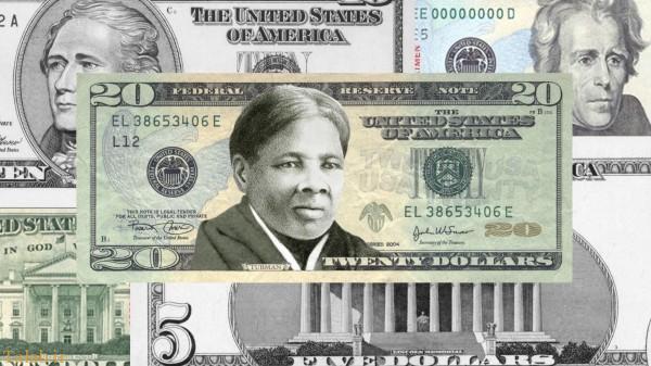 عکس یک زن سیاهپوست بر دلار آمریکا