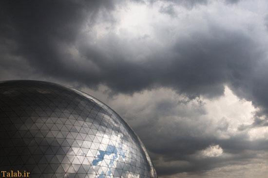 آسمان زیبای نیمه ابری تهران + عکس