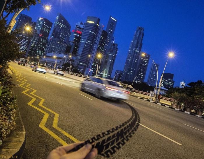 عکس های شوخی جالب یک عکاس با نمادهای شهری