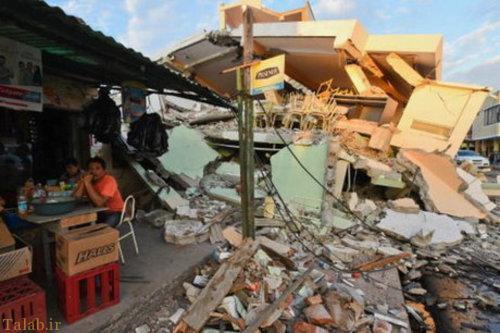 2400 نفر زخمی و کشته در زلزله اکوادور (+عکس)