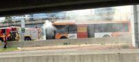 10 مسافر گرفتار در آتش اتوبوس تهران