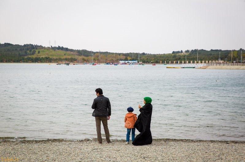 عکس دیدنی از بزرگترین دریاچه مصنوعی تهران