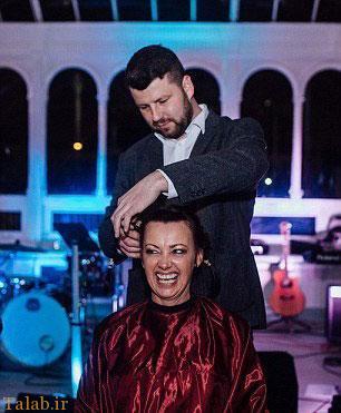 کچل کردن عروس خانم در شب عروسی + عکس