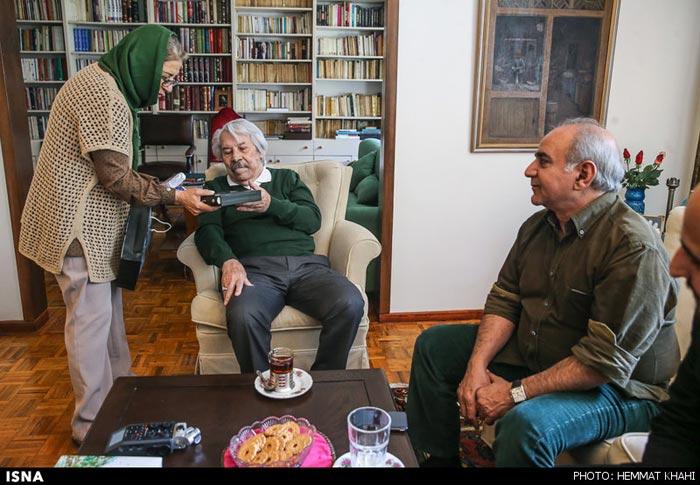پرویز پرستویی در دیدار با بزرگان سینما (+ عکس)
