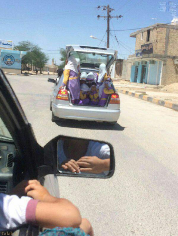 خطرناک ترین سرویس مدرسه دخترانه در ایران + عکس