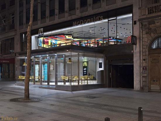 رستوران مک دونالد با طراحی جدید و متفاوت + تصاویر
