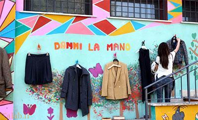 دیوار مهربانی به شهر رم رسید (+عکس)