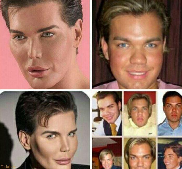 مردی که خودش را شبیه عروسک کرد + عکس