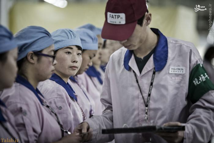 عجیب ترین کارخانه آیفون در چین !+ عکس