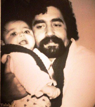 عکسی کودکی بازیگر زن معروف در کنار پدرش
