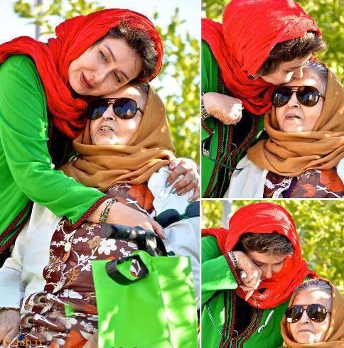 بازیگر معروف کتایون ریاحی در کنار مادرش (عکس)