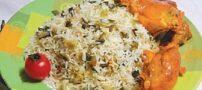 طرز تهیه پلوی پیازچه با مرغ