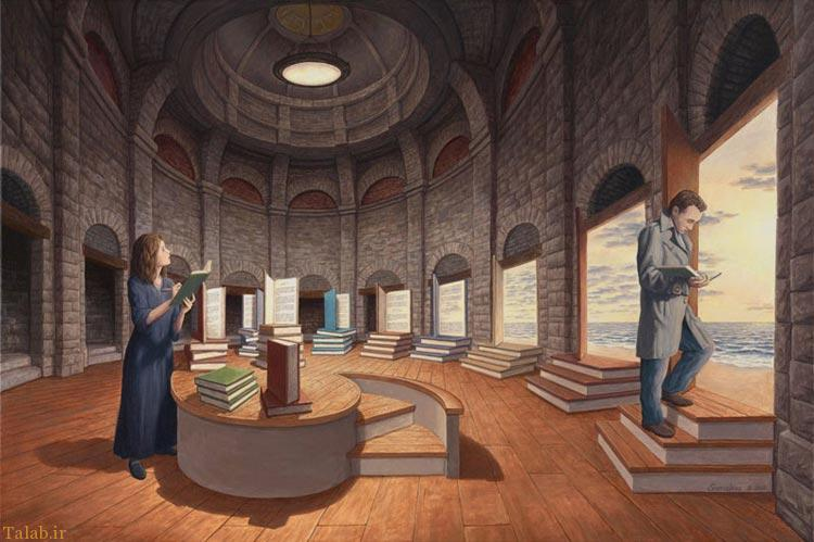 نقاشی دیدنی و مفهومی توسط هنرمند معروف راب گونسالوز