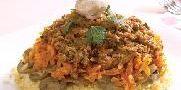طرز تهیه پلو قالبی با سبزیجات