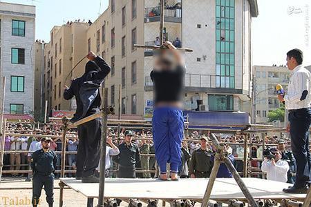 شلاق خوردن آدمخوار کرجی در ملأعام (عکس)