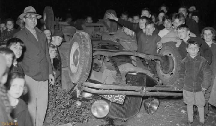 نخستین تصادفات خودروها در تاریخ ( تصویری)