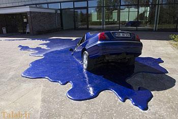 اثر زیبای هنری برای نشان دادن گرمای زمین (عکس)