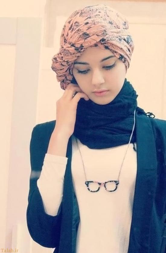 مدل های ساده و شیک برای بستن روسری