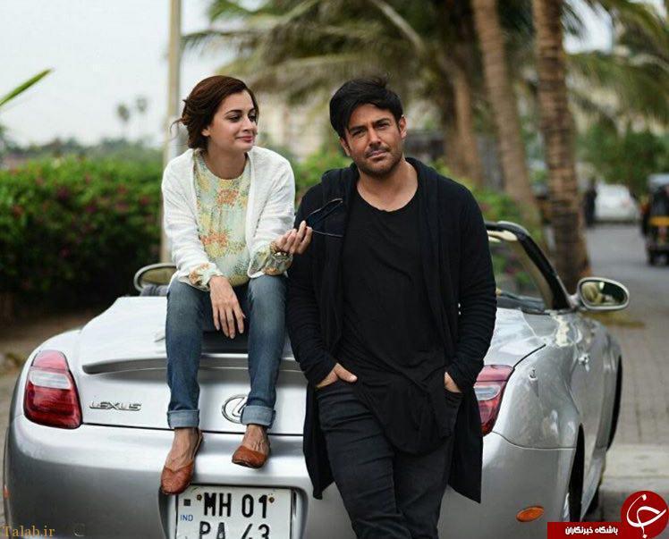 عکس صمیمی محمدرضا گلزار و خانم بازیگر هندی