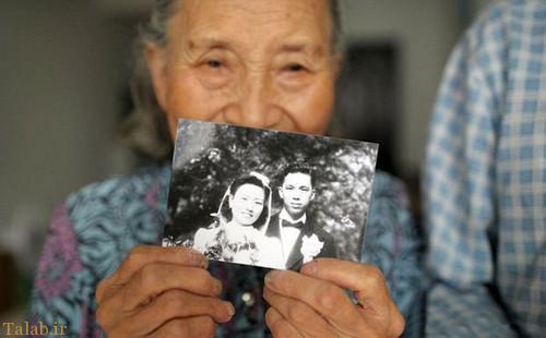 بازسازی جالب عکس ازدواج این زوج پیر (عکس)