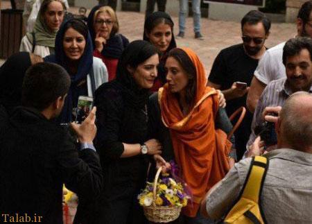 عکس هدیه تهرانی در سن 45 سالگی با همسرش