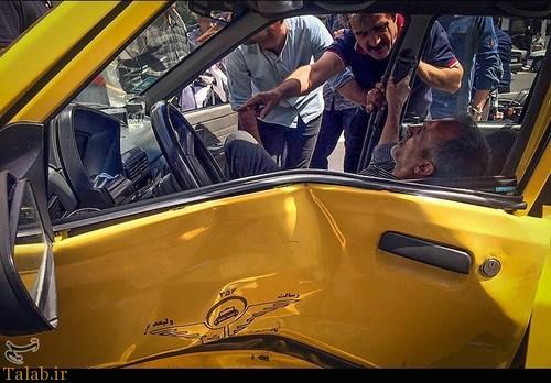 وقتی تاکسی پراید با خودروی پلیس تصادف میکند !+ عکس