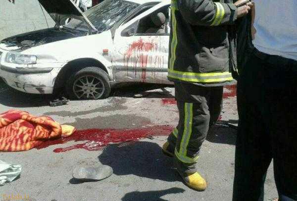 تصادف وحشتناک در قزوین و مرگ دختران دانشجو
