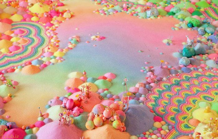 عکس های دیدنی شهر شکلاتی هنرمند استرالیایی