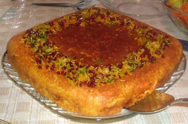 طرز تهیه ته چین مرغ و بادمجان شیرازی