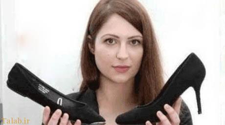 اخراج شدن زنی بدلیل کفش پاشنه بلند (عکس)