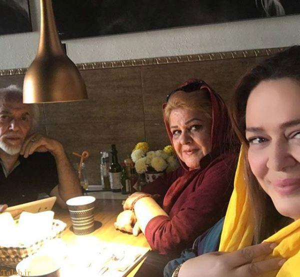 عکس بهاره رهنما در کنار پدر و مادرش