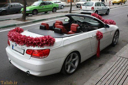 جدیدترین مدل ماشین عروس با گل های جدید