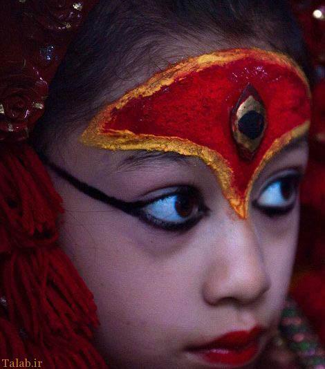 پرستش این دختر زیبای نپالی (عکس)
