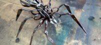 تصاویر ساخت عنکبوت ترسناک از قیچی مسافران هوایی