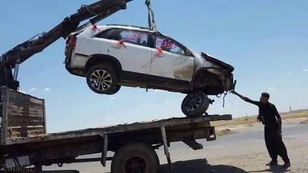 حادثه وحشتناک برای ماشین عروس !+ عکس