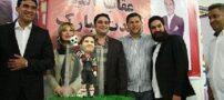 نیوشا ضیغمی در کنار علی دایی و عابدزاده + عکس