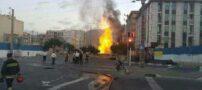 انفجار لوله گاز در شمال غرب تهران (+عکس)