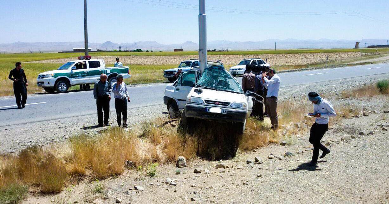تصادف پراید در جاده همدان – سنندج  + عکس