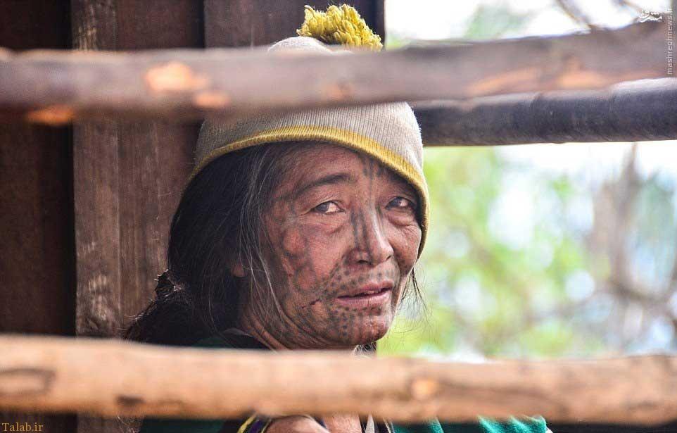 آرایش دردناک زنان میانمار برای مردان !!+ تصاویر