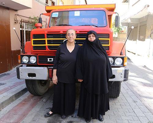 رانندگی این زن مسلمان با کامیون در شب کودتا در ترکیه + عکس