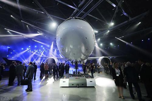 تصاویری از رونمایی هواپیمای مسافربری جدید روسیه