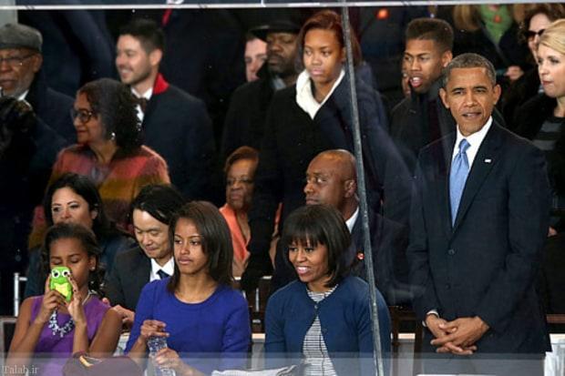 عکس های اوباما در کنار خانواده در روز پدر