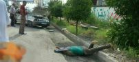مرگ راننده در برخورد با تیر چراغ برق در فریدونکنار +18